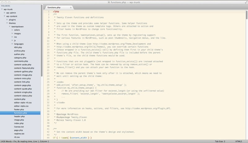 My Sublime Text 2 Setup