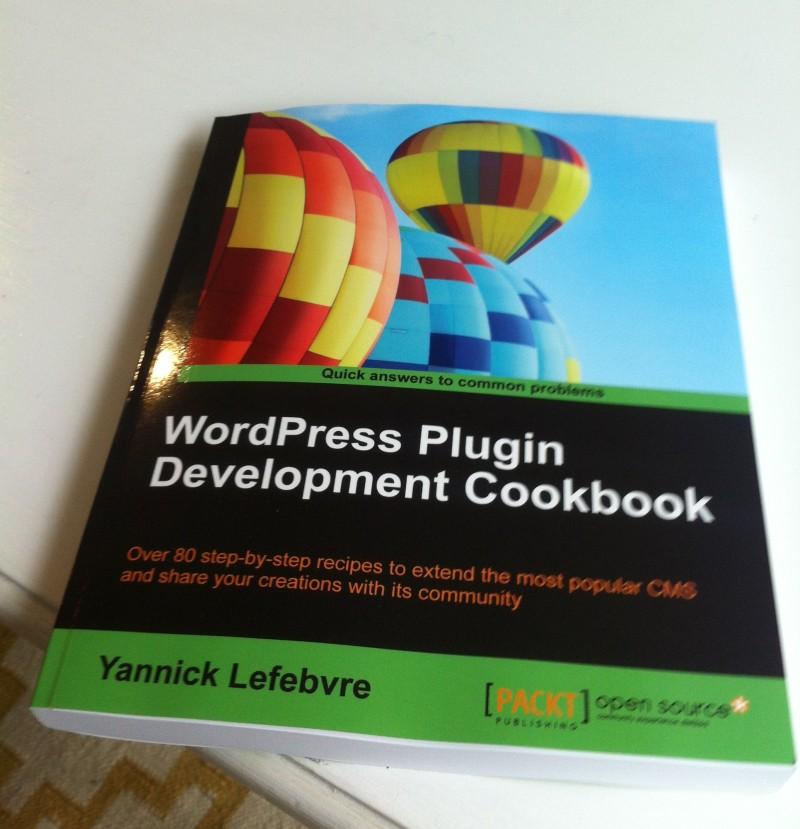 WordPress Plugin Development Cookbook Book Cover
